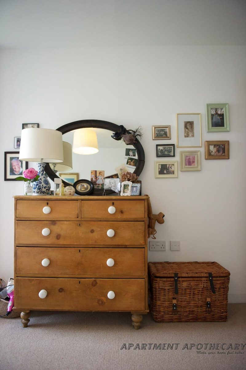 Pine antique chest of drawers