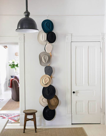 Vertical hat display