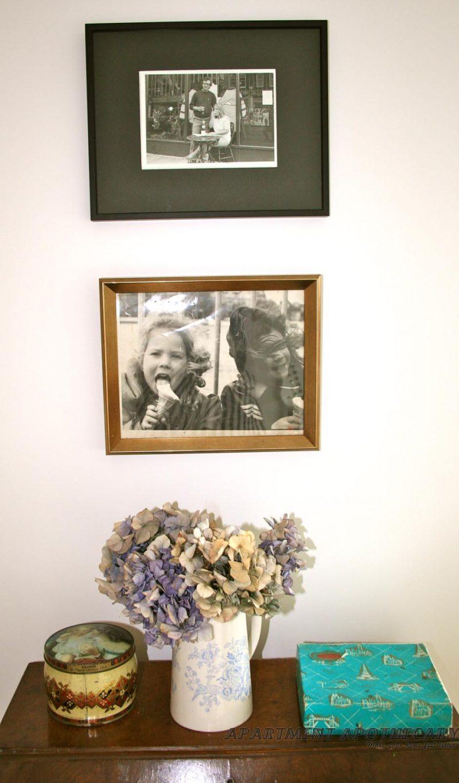 Framed family photographs