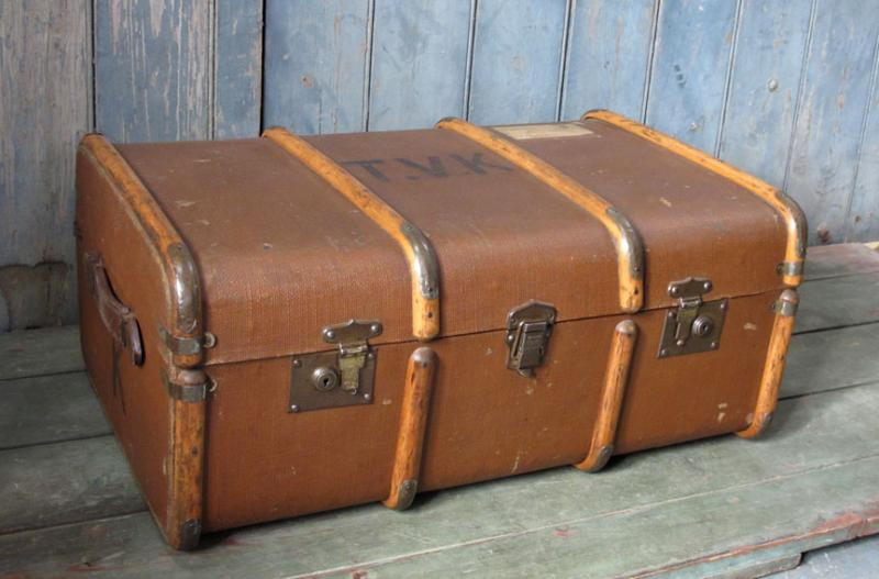 Vintage old school trunk