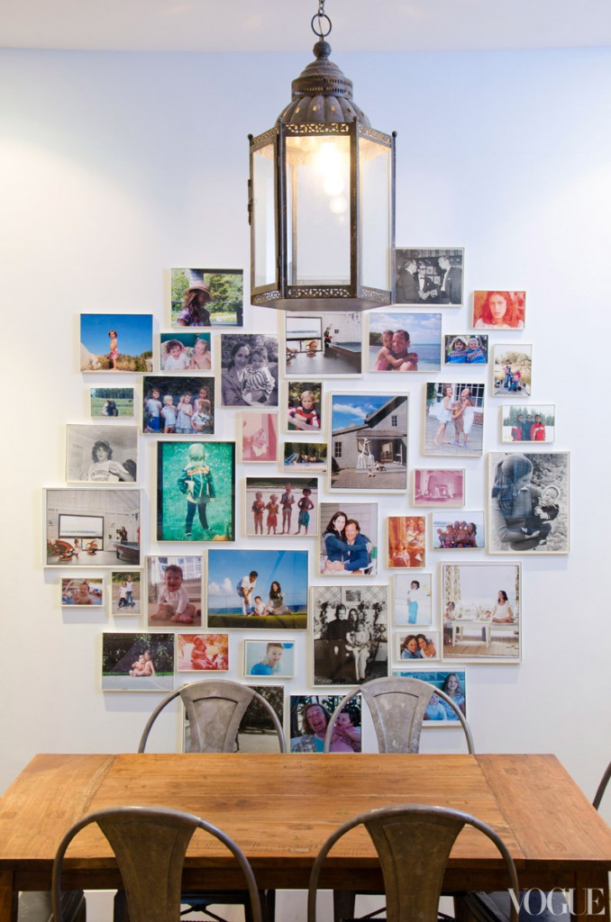 Patricia Herrara's home for Vogue, a collection of framed photographs.