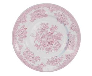 Burleigh pink Asiatic Pheasants dinner plate