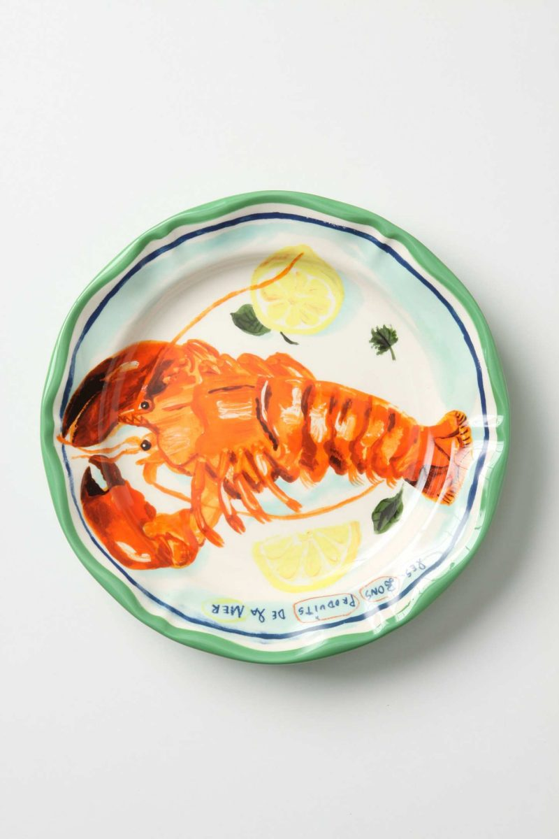 Anthropologie dinner plate.