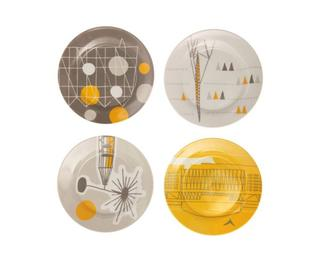 Retro plates featuring Royal festival Hall image
