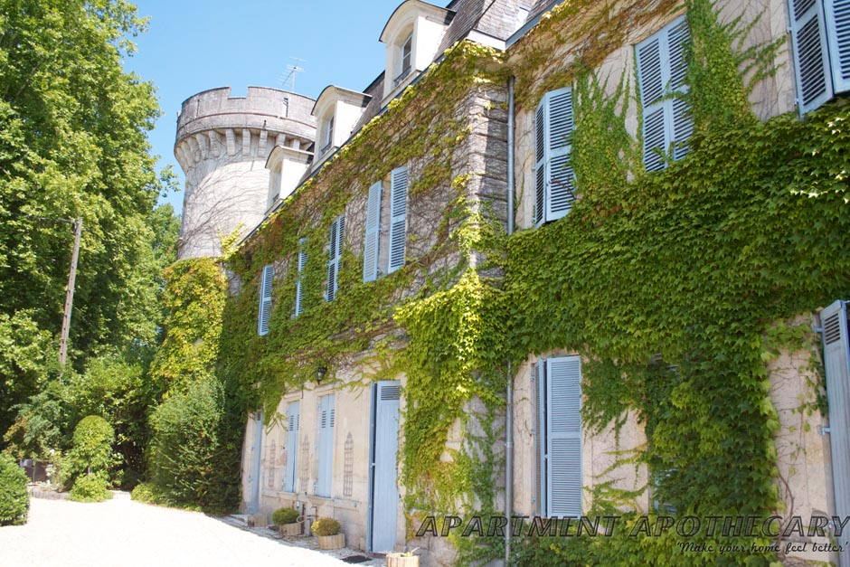 Ivy covered French Chateau