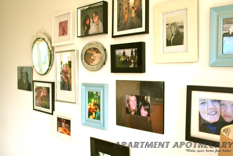Collection of framed photogrpahs