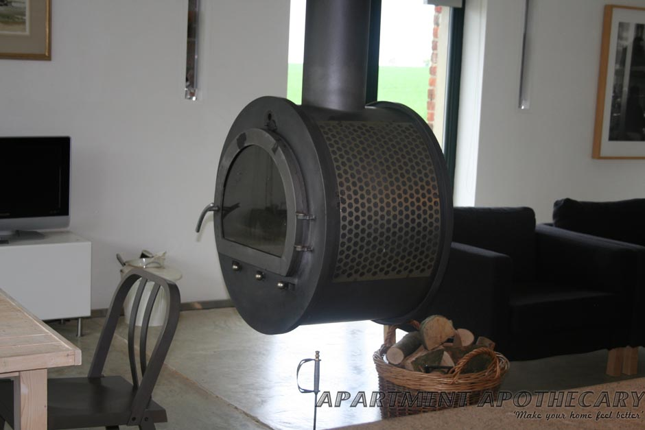 Modern chimney wood burner
