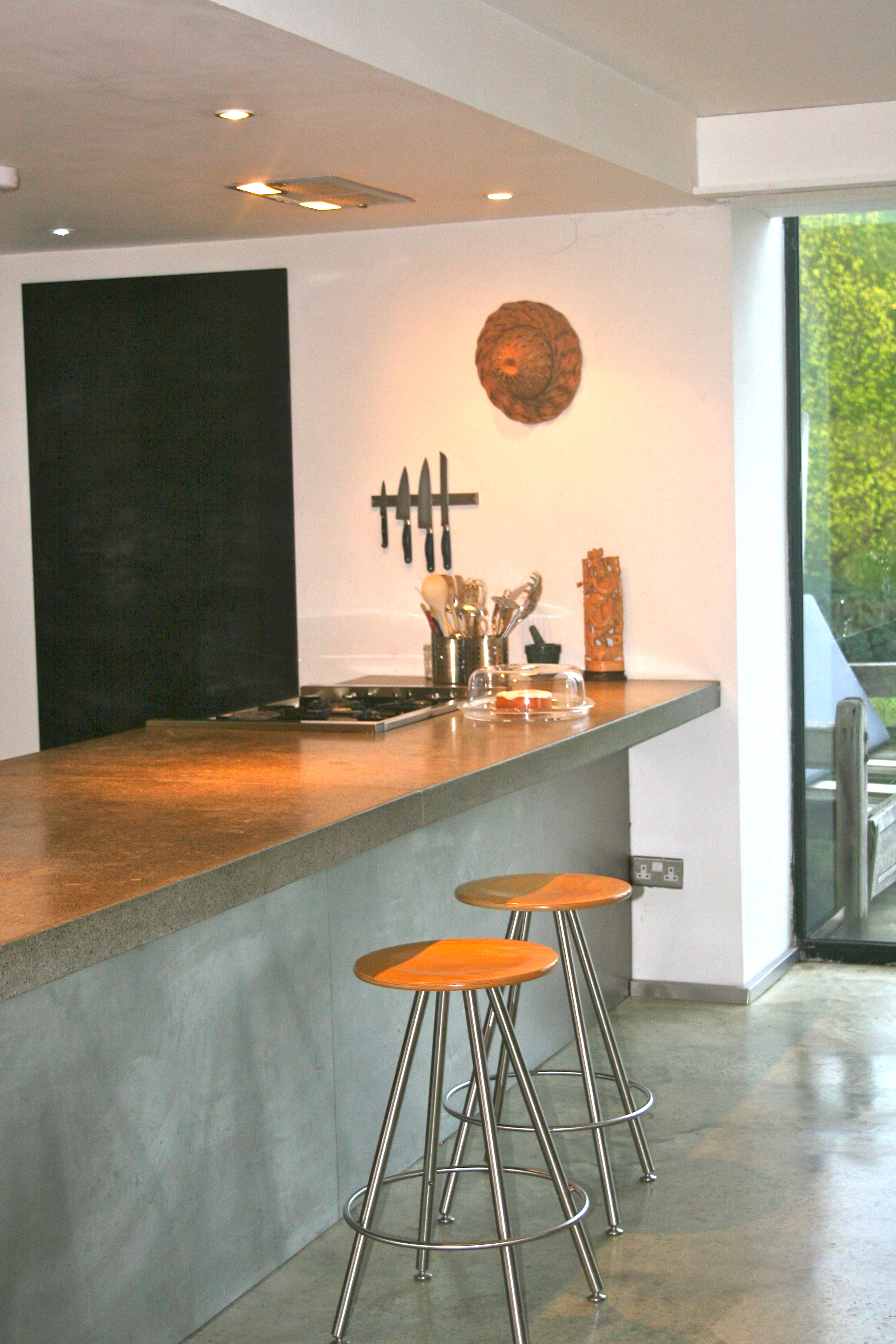 Concrete and stone kitchen