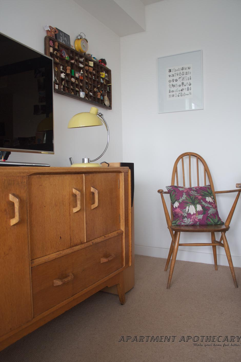 Retro vintage G-Plan sideboard and Ercol chair