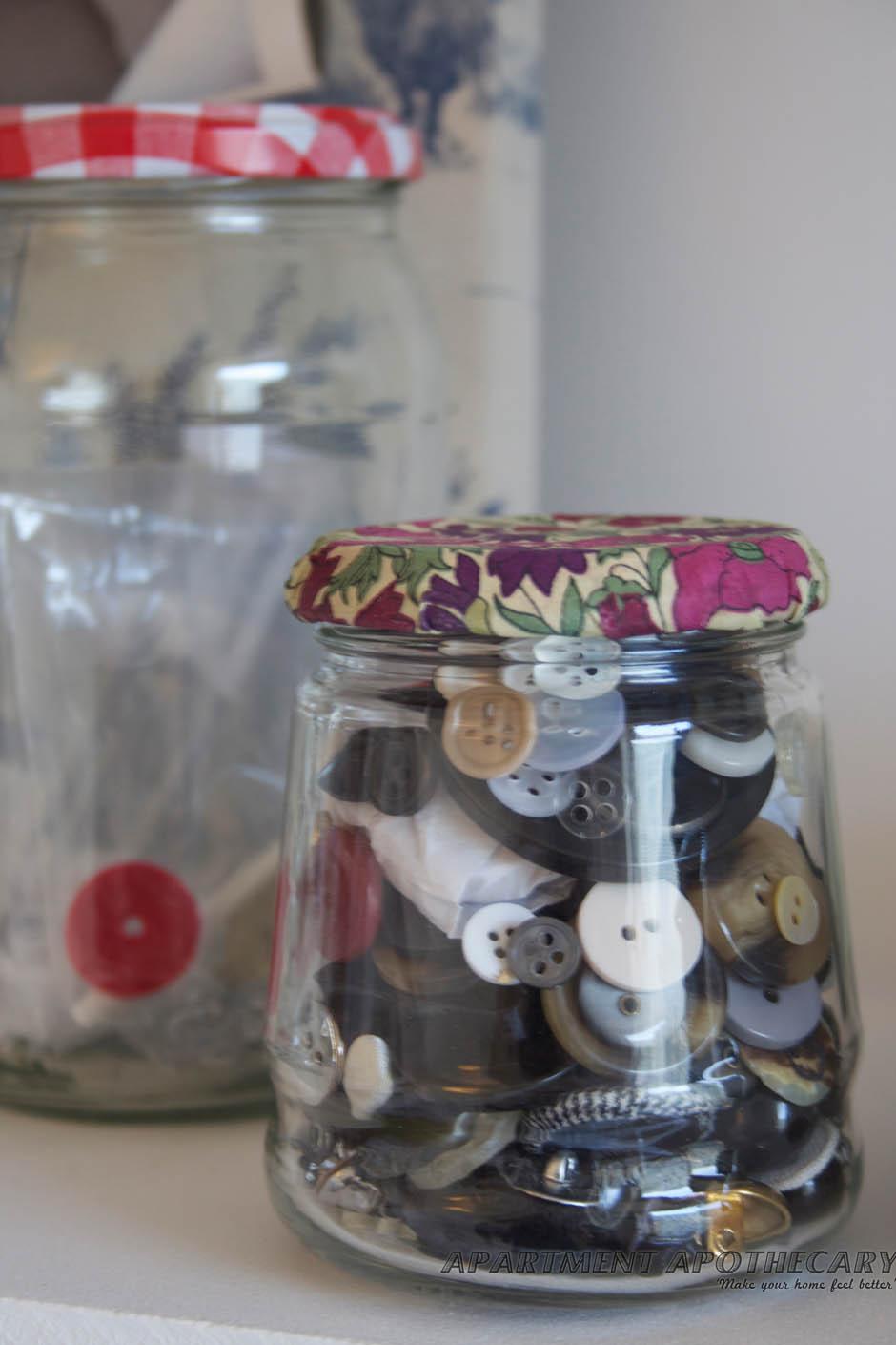 Modge podge jars