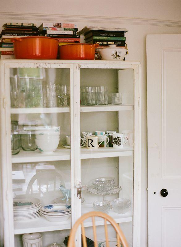 Lisa Levis (nee Stickley) vintage glass kitchen cabinet