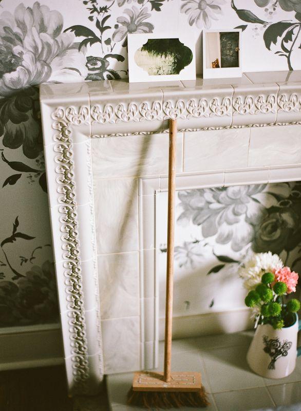 Lisa Levis (nee Stickley) vintage fireplace