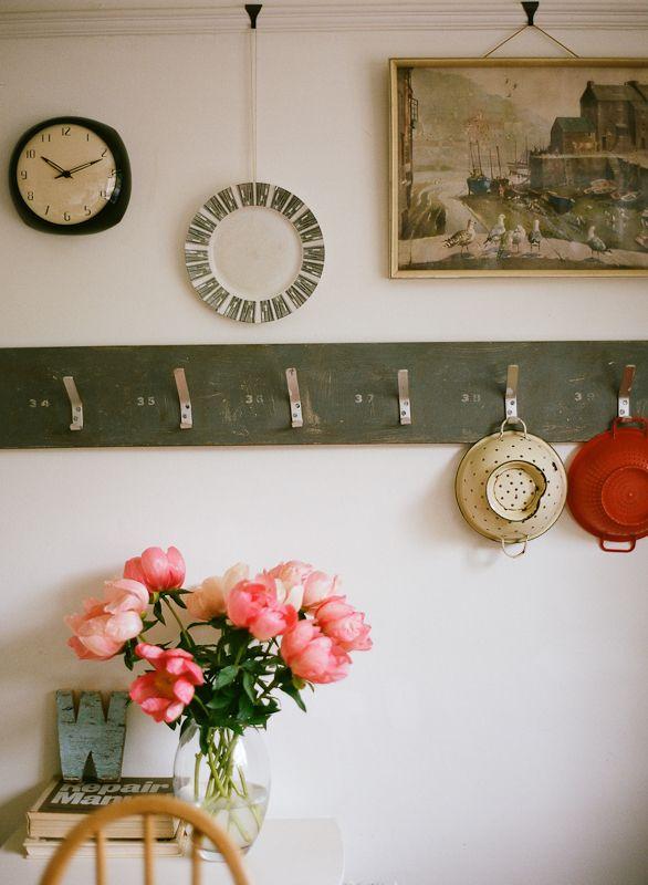 Lisa Levis (nee Stickley) interior design vintage kitchen hooks