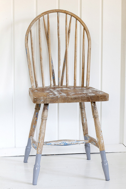Furniture makeover dipped chair legs