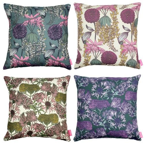 Abigail Borg floral cushions