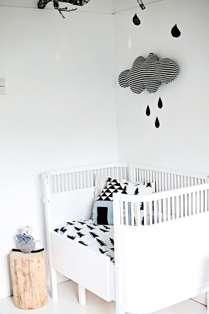 Monochrome Scandinavian style nursery
