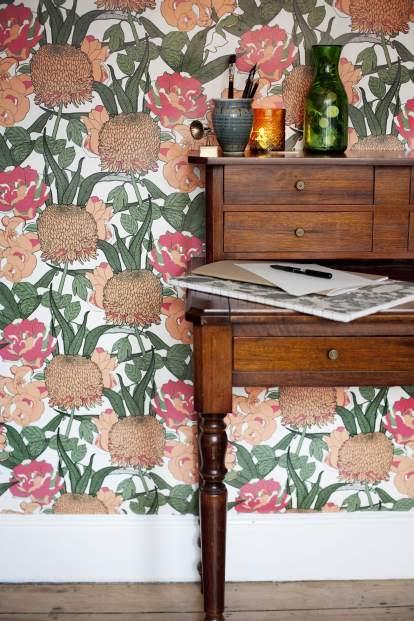 Mr Chrysanth floral Wallpaper Abigail Borg