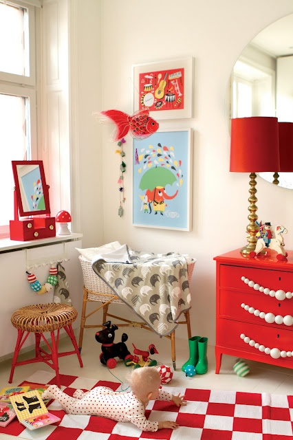 Red themed nursery