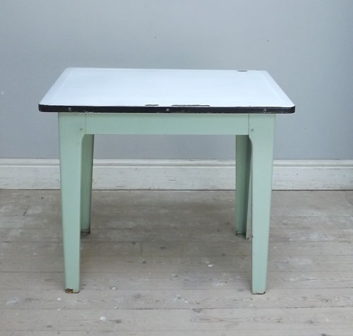 Vintage enamel topped kitchen table