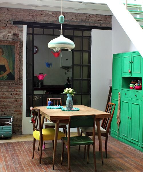 Painted furniture green cupboard