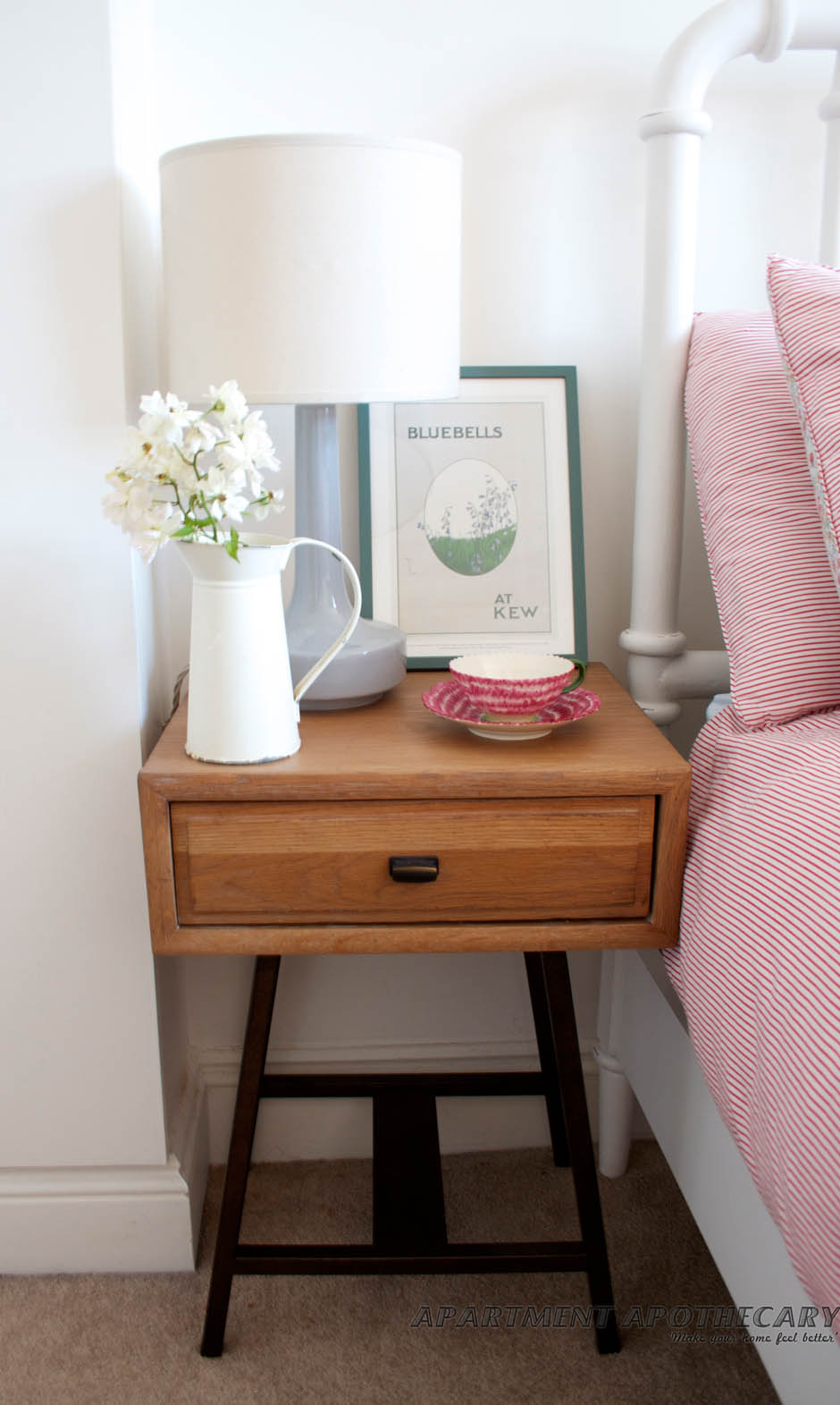 Bedroom makeover  Loaf Campaign bedside table