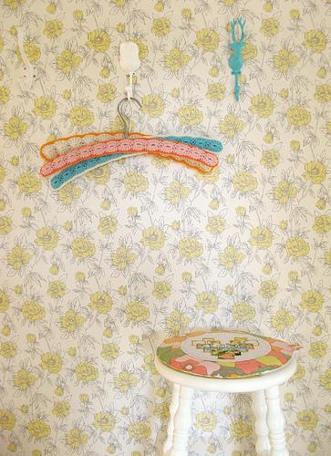 Crocheted hangers by Dottie Angel