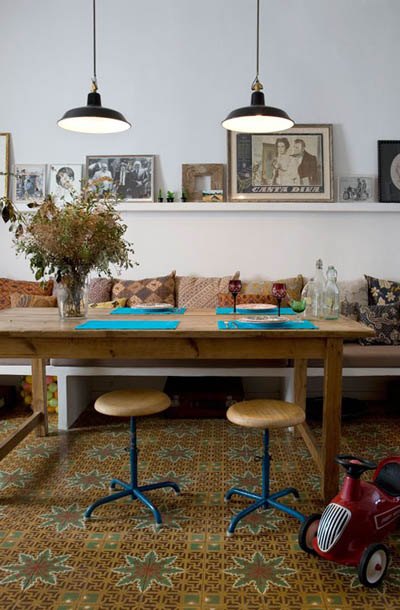 How to choose a new floor: Vintage tiled floor www.apartmentapothecary.com