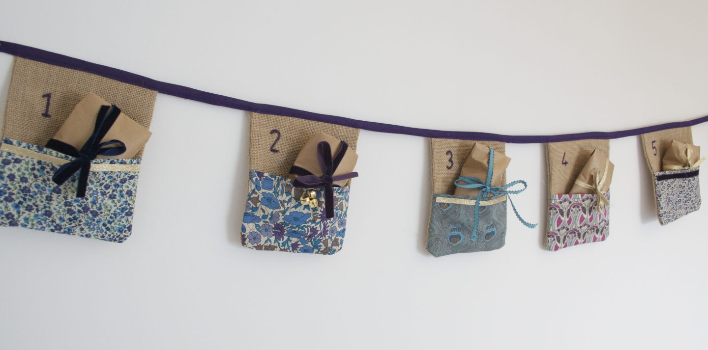 How to make Liberty print advent bunting   DIY advent calendar   Liberty print sewing project   Apartment Apothecary