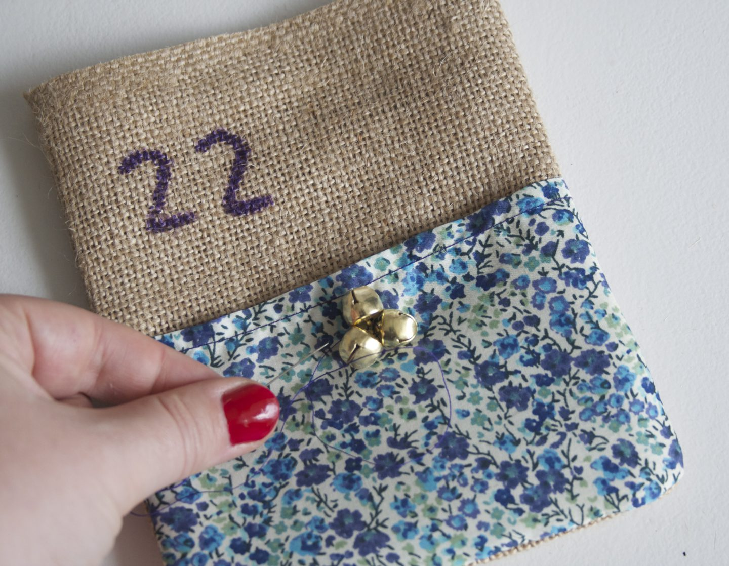 How to make Liberty print advent bunting | DIY advent calendar | Liberty print sewing project | Apartment Apothecary