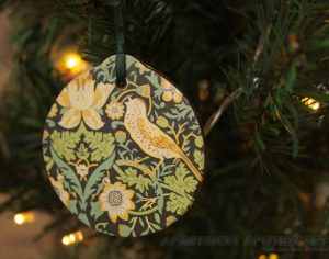 Handmade Liberty print Christmas tree decorations by www.apartmentapothecary.com