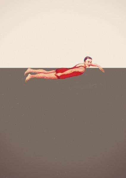 Double Merrick swimmer print