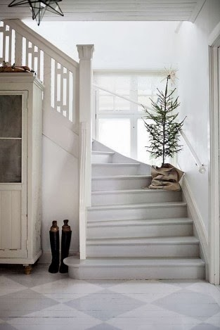 Scandinavian home at Christmas time www.apartmentapothecary.com