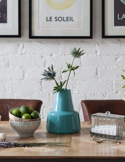 Kitch blue ceramic vase from Rose and Grey www.apartmentapothecary.com