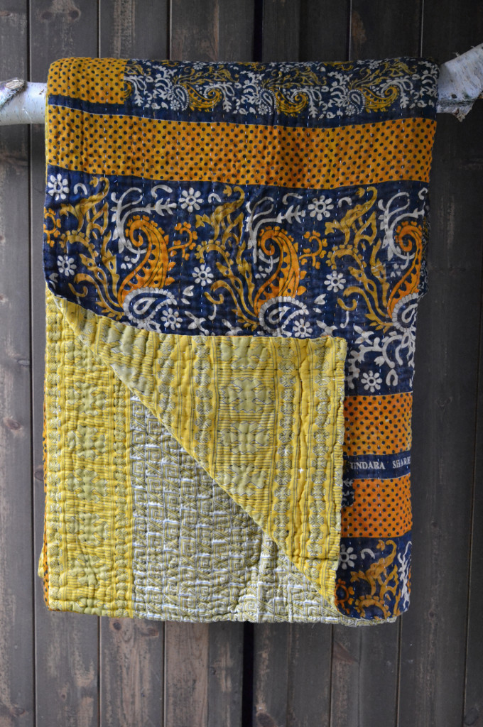 Vintage Kantha quilt or bedspread from Decorator's Notebook www.apartmentapothecary.com