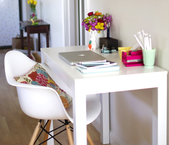 Home office inspiration from At Home In Love blog