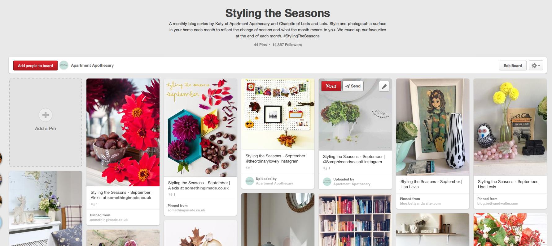 Styling the Seasons | Pinterest board