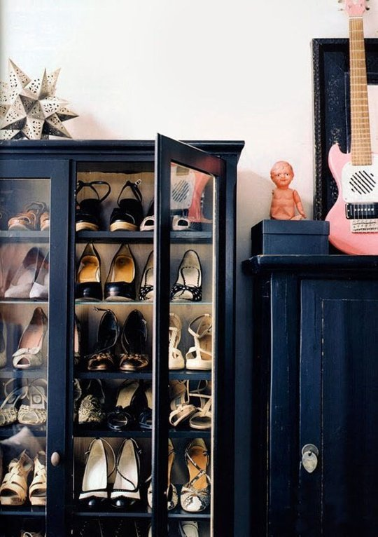 Ask Apartment Apothecary - hallway shoe storage
