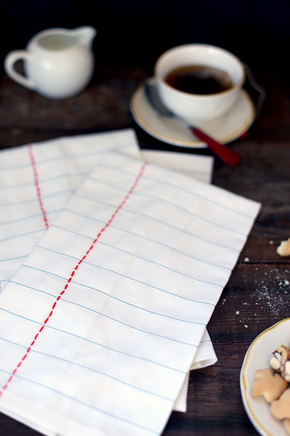 DIY notebook tea towels by Say Yes blog | Apartment Apothecary