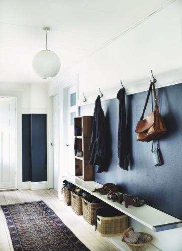 Ask Apartment Apothecary - hallway shoe storage