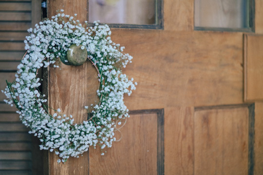Weekend Inspiration - gypsophila wreath | A Quiet Style