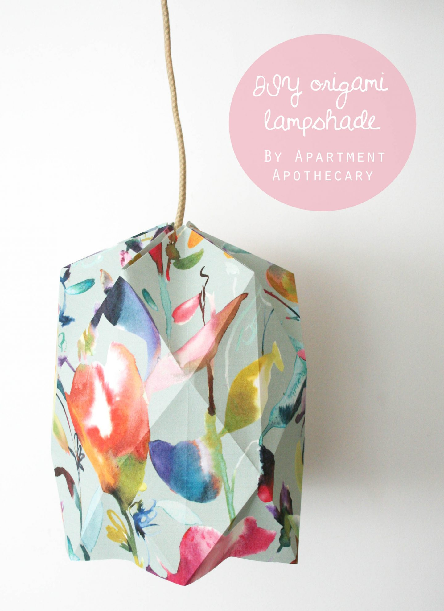 How to make an origami lampshade out of wallpaper | Quick and simple wallpaper crafts | Apartment Apothecary