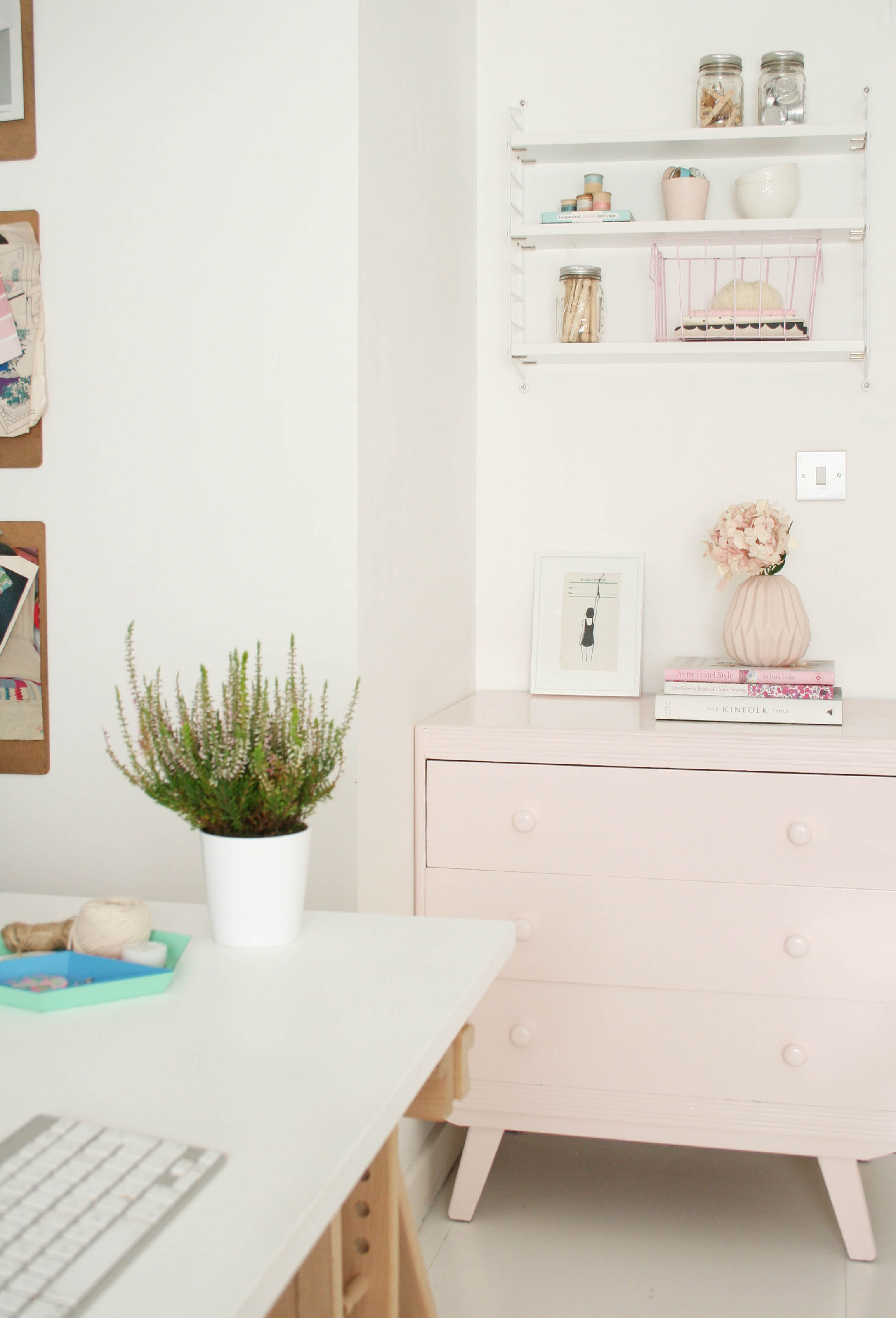 Dulux Visualizer App | Painted drawers | Home office | Quick makeover | Pastel pink furniture