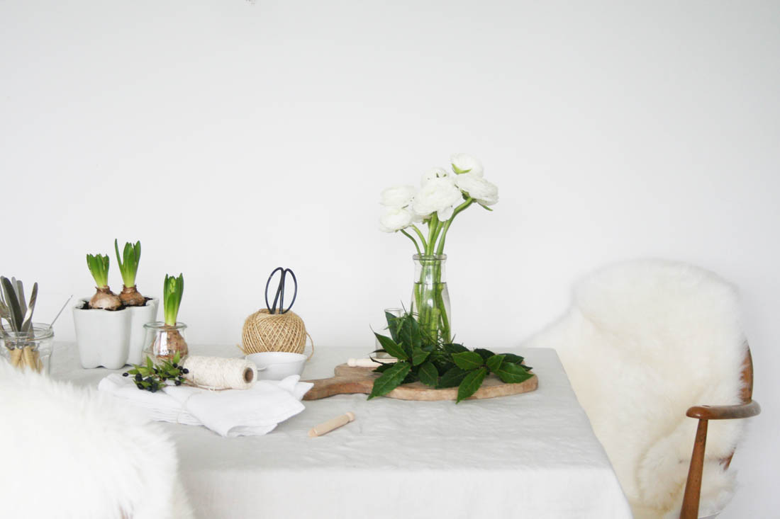 Styling the Seasons - December 2015 | Christmas branch | Christmas table decorations | Nordic style Christmas | Apartment Apothecary