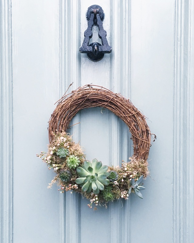 KT Robbins Ceramics | Christmas succulent wreath