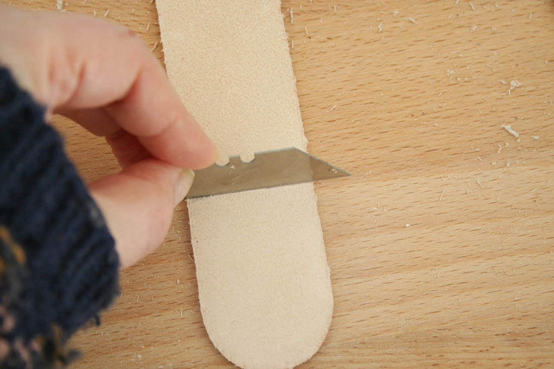 DIY leather door handles for kitchen cabinets | Tutorial | Apartment Apothecary