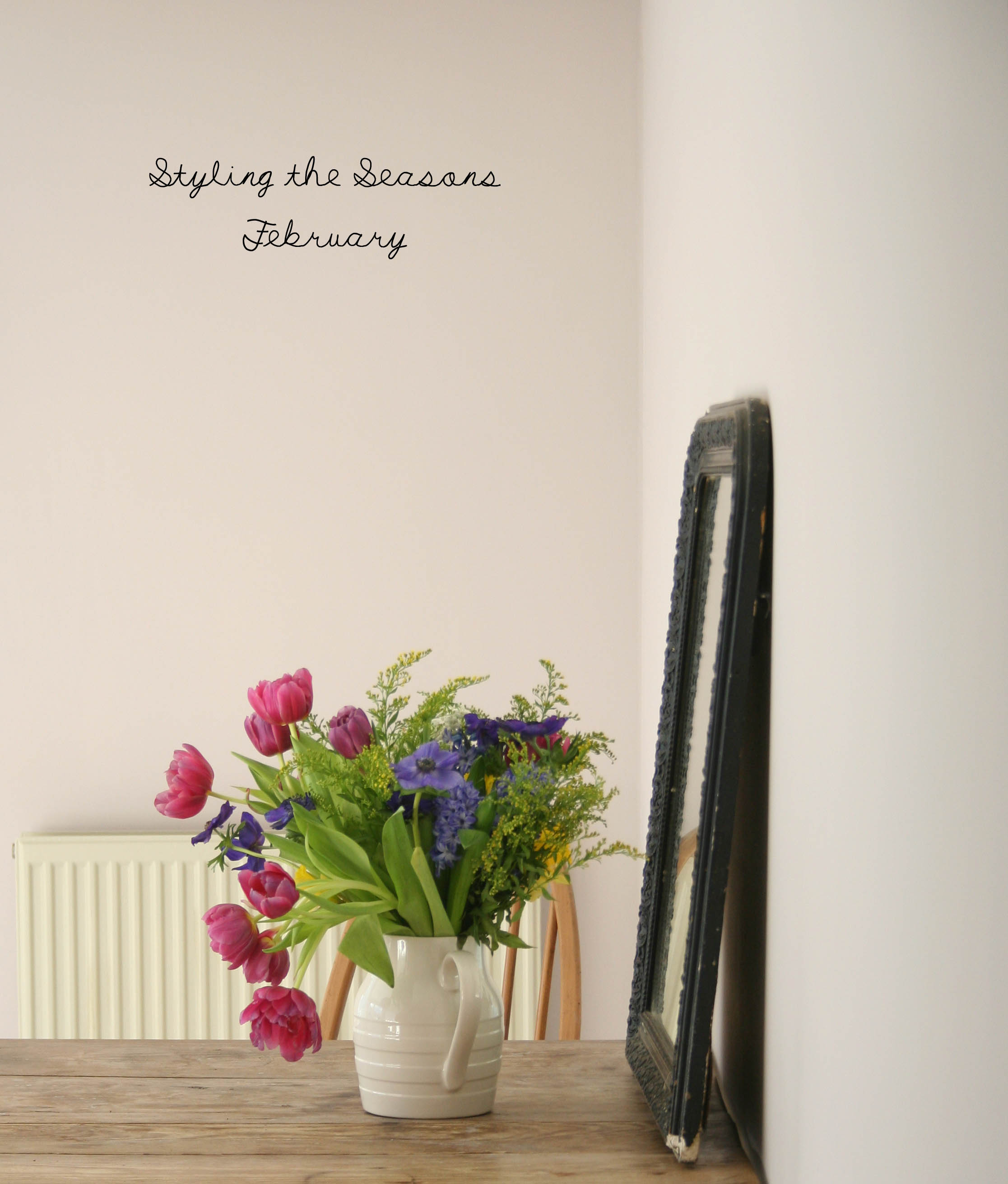 Styling the Seasons - February | New Farrow & Ball colour - Peignoir | Apartment Apothecary