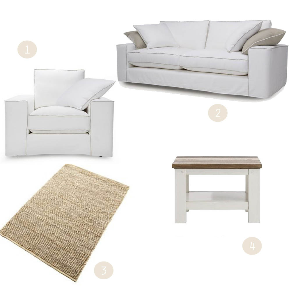 DFS Slate sofa | White on white | Win a living room makeover | French connection sofas | Apartment Apothecary