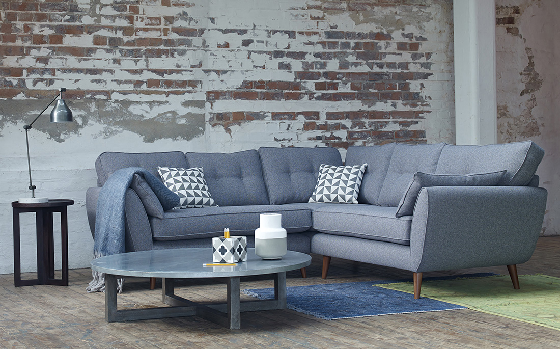 DFS Zinc sofa | Mid-century style | Win a living room makeover | French Connection sofas | Apartment Apothecary
