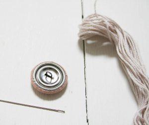 How to make a tufted cushion | Cushion tutorial | Blush pink linen cushion | Apartment Apothecary