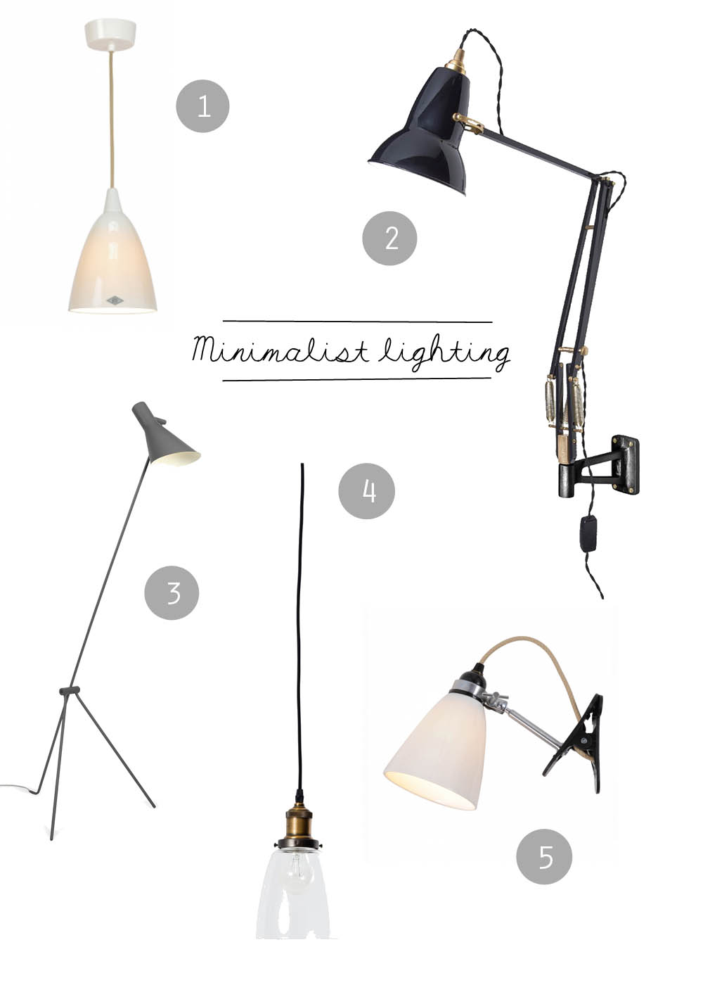 Minimalist lighting   Apartment Apothecary